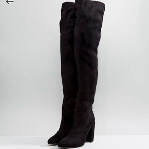 Missguided Pointed Over the Knee Boots